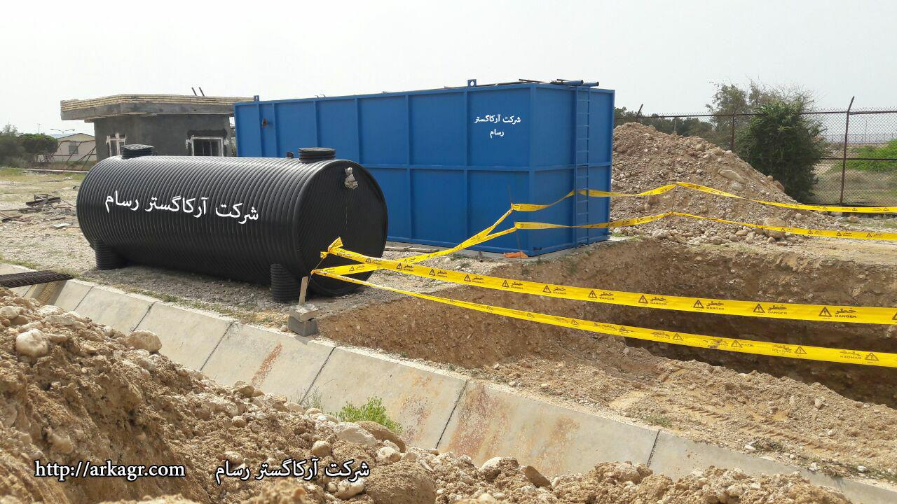 شکل 1. عملیات دفن سپتیک تانک پلیاتیلنی ساخته شده توسط شرکت آرکاگستر رسام